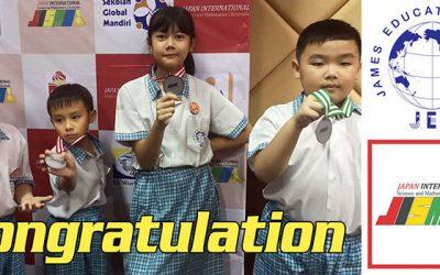 Medali Untuk Murid James Elementary School Di JISMO Autumn 2018